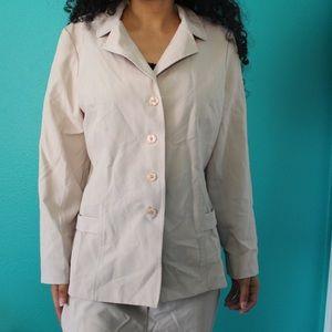 vintage women's brown blazer coat jacket